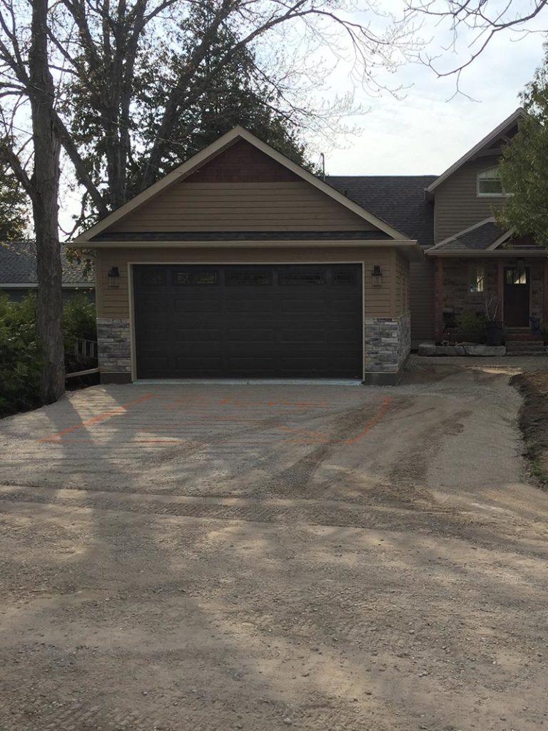 Garage Build, Landscaping